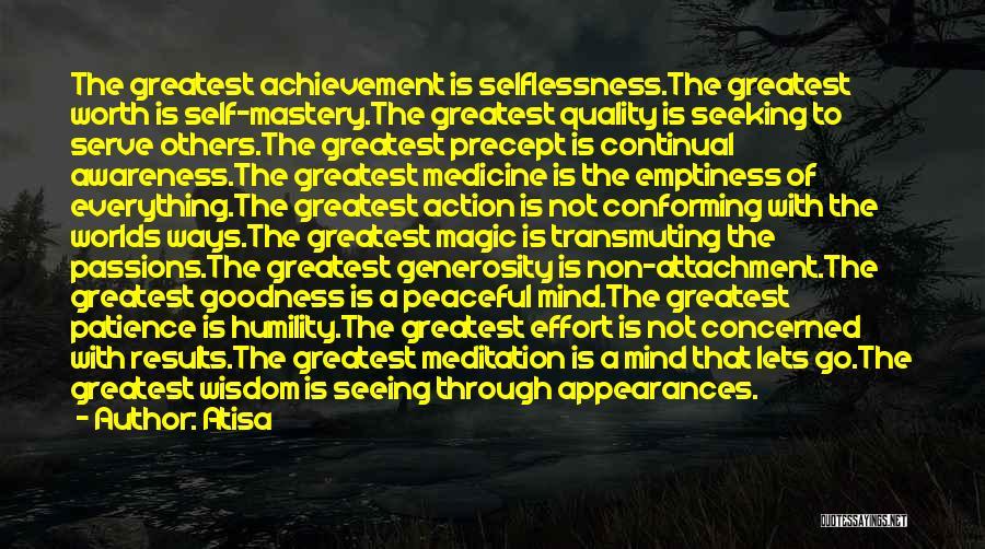 Non Attachment Quotes By Atisa