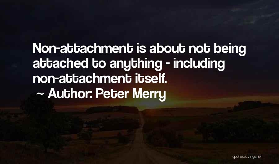 Non Attachment Quotes By Peter Merry