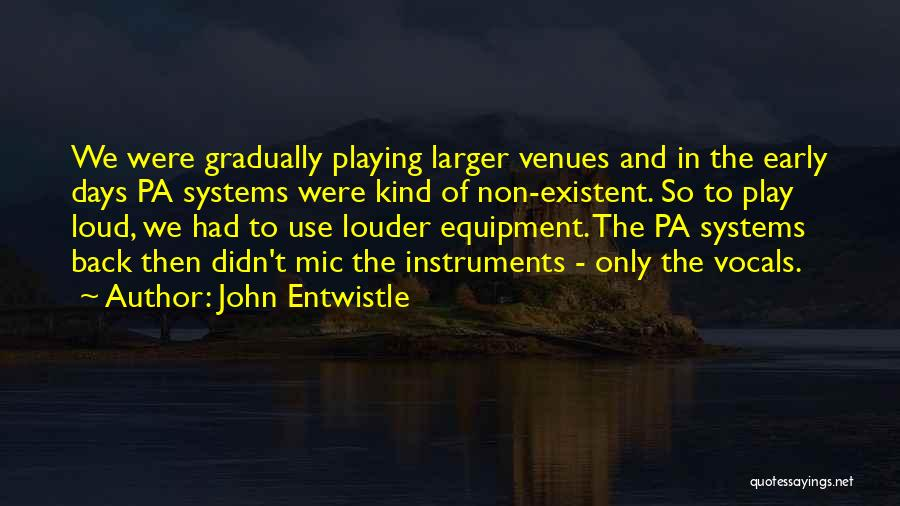 Non Existent Quotes By John Entwistle