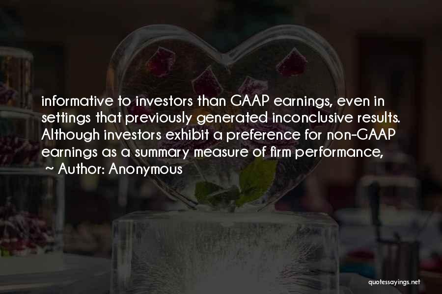 Non Performance Quotes By Anonymous