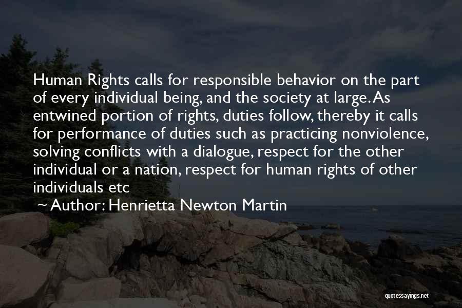 Non Performance Quotes By Henrietta Newton Martin