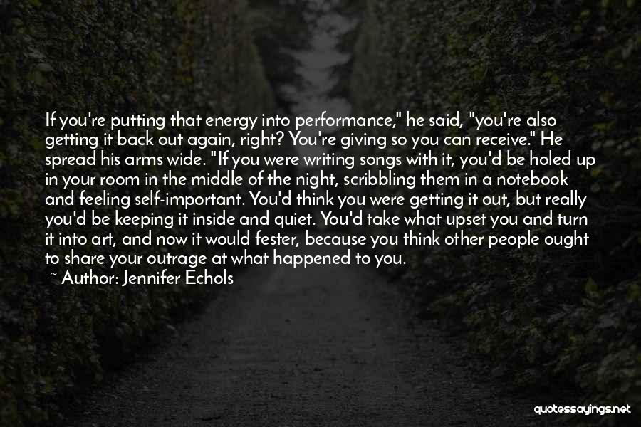 Non Performance Quotes By Jennifer Echols