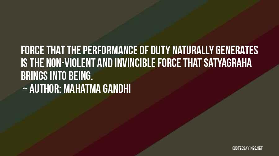 Non Performance Quotes By Mahatma Gandhi