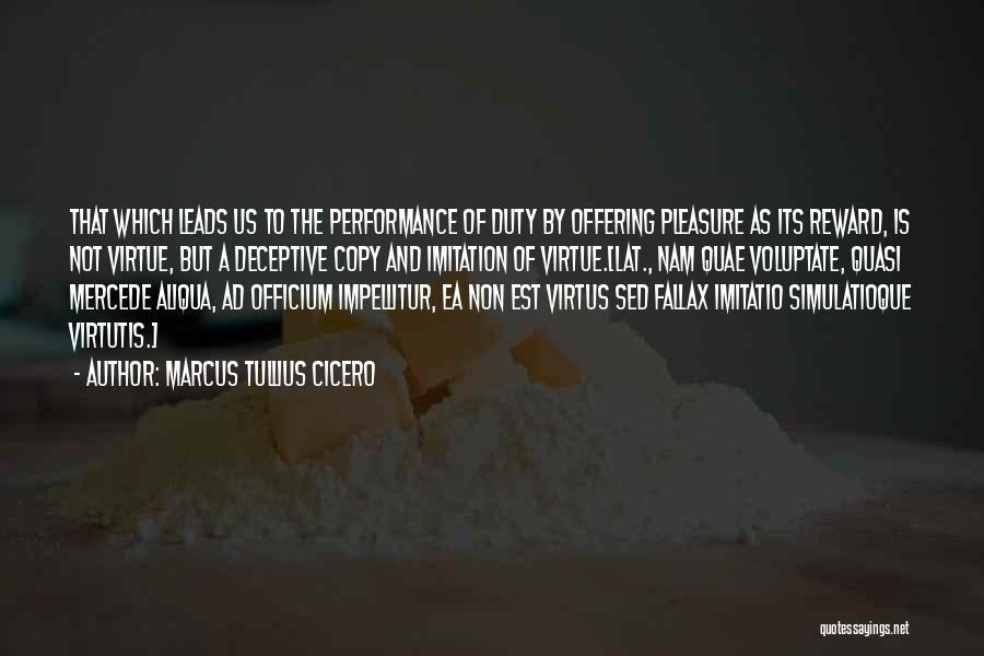 Non Performance Quotes By Marcus Tullius Cicero