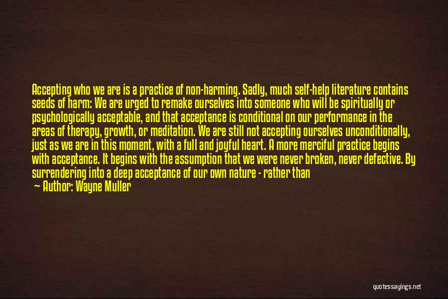 Non Performance Quotes By Wayne Muller