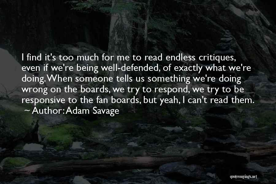 Non Responsive Quotes By Adam Savage