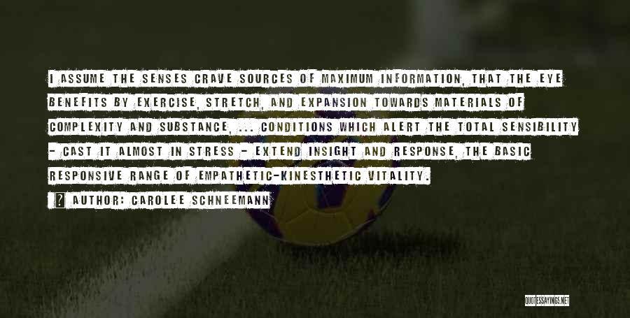 Non Responsive Quotes By Carolee Schneemann