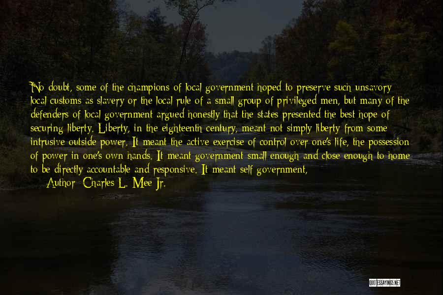 Non Responsive Quotes By Charles L. Mee Jr.