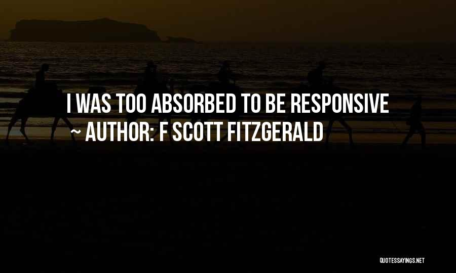 Non Responsive Quotes By F Scott Fitzgerald
