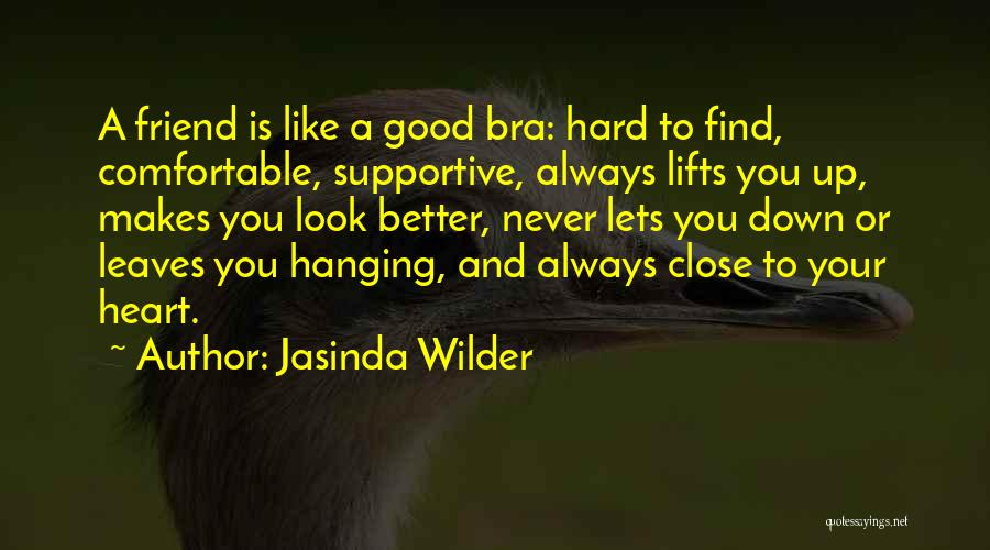 Non Supportive Friend Quotes By Jasinda Wilder