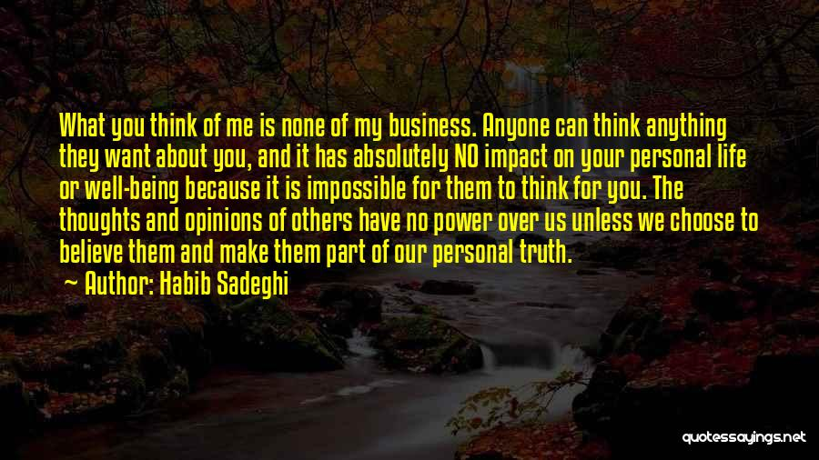 None Of Your Business Quotes By Habib Sadeghi