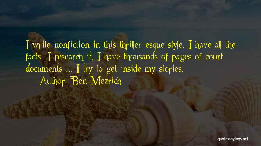Nonfiction Stories Quotes By Ben Mezrich