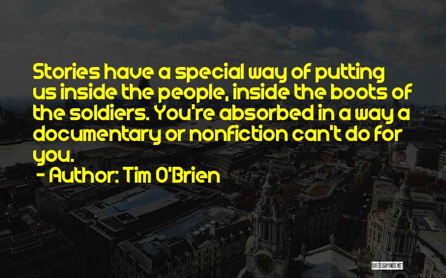 Nonfiction Stories Quotes By Tim O'Brien