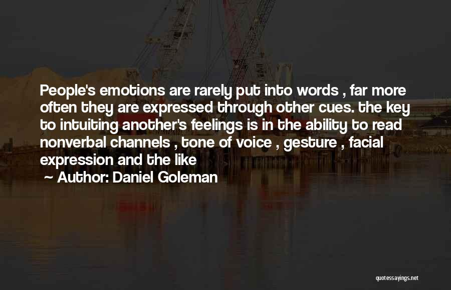 Nonverbal Quotes By Daniel Goleman
