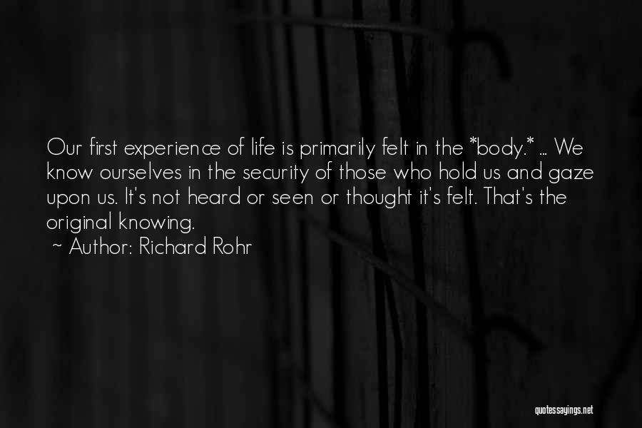 Nonverbal Quotes By Richard Rohr