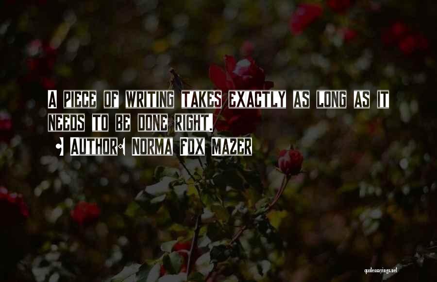 Norma Fox Mazer Quotes 2258906