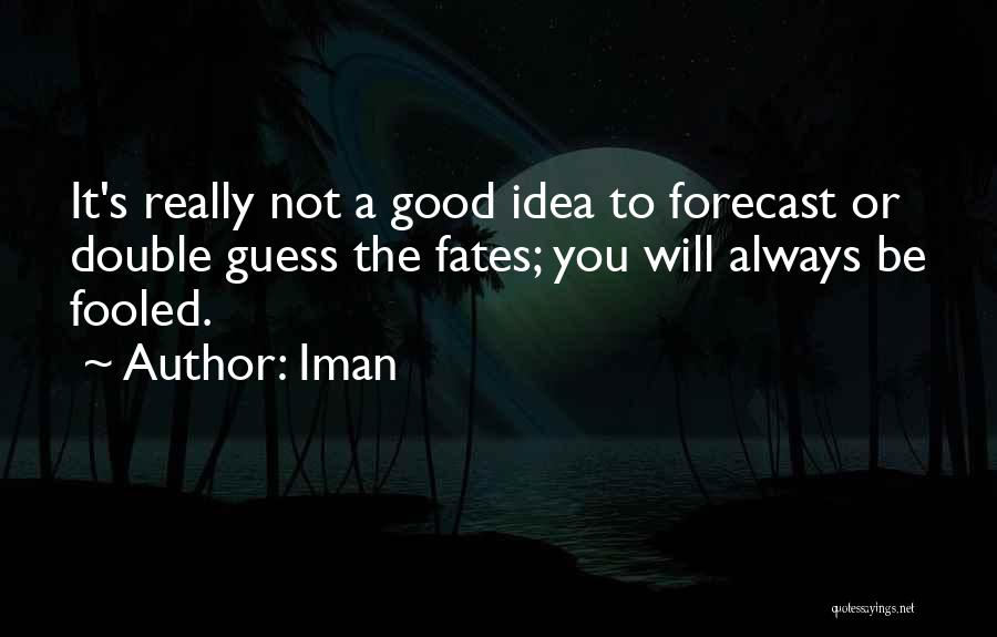 Not A Good Idea Quotes By Iman