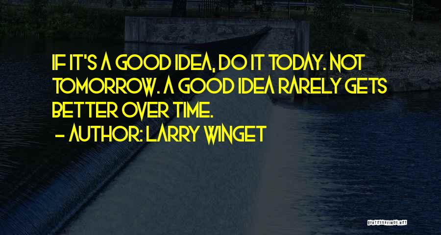 Not A Good Idea Quotes By Larry Winget