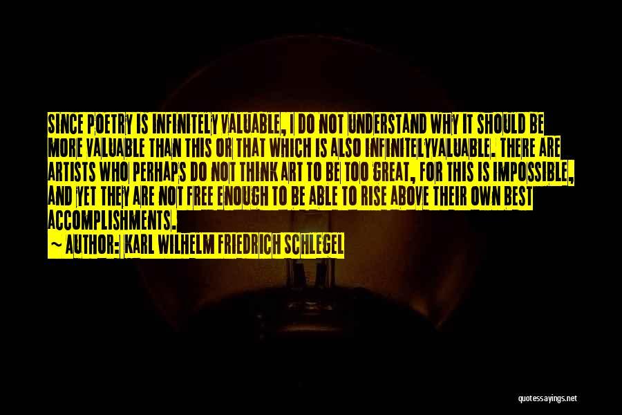 Not Able To Understand Quotes By Karl Wilhelm Friedrich Schlegel