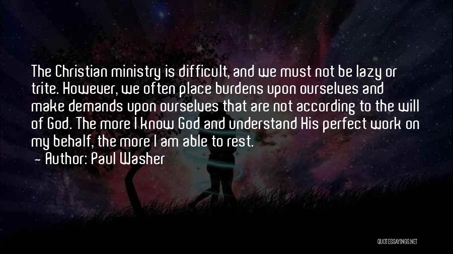 Not Able To Understand Quotes By Paul Washer