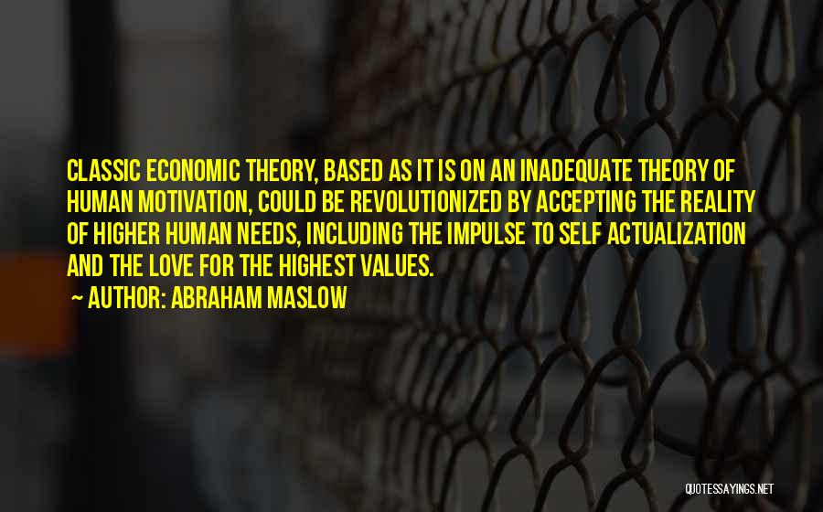 Not Accepting Reality Quotes By Abraham Maslow
