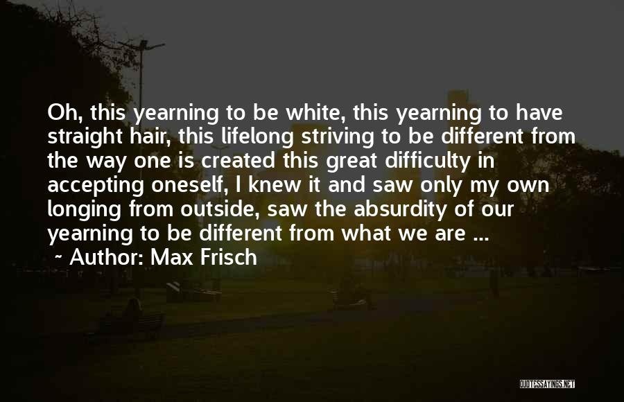 Not Accepting Reality Quotes By Max Frisch