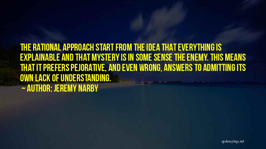 Not Admitting Your Wrong Quotes By Jeremy Narby