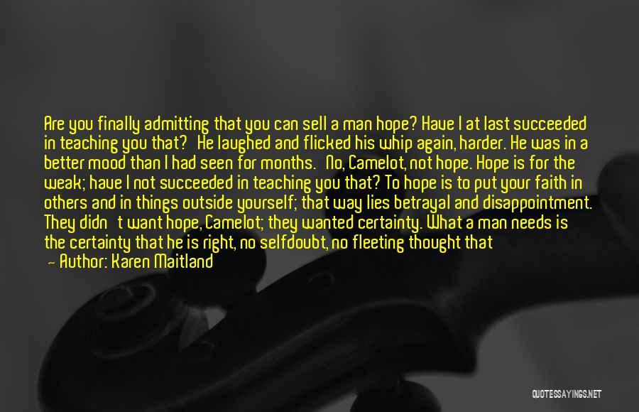 Not Admitting Your Wrong Quotes By Karen Maitland