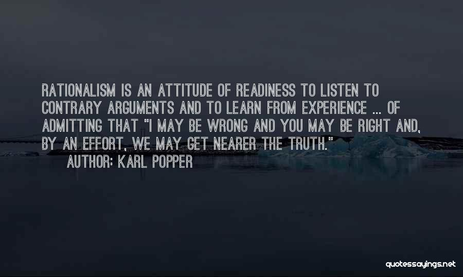 Not Admitting Your Wrong Quotes By Karl Popper