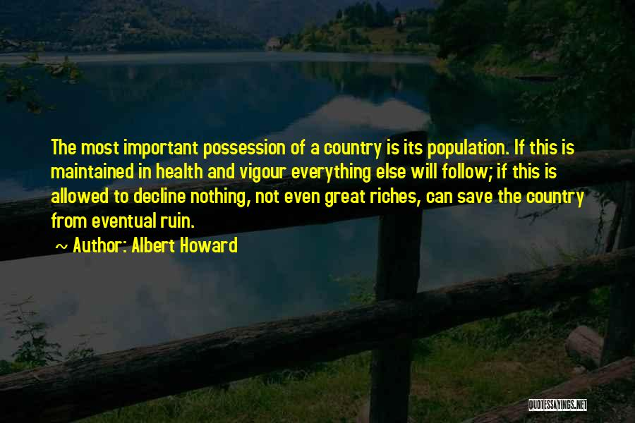Not Allowed Quotes By Albert Howard