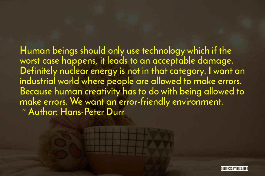 Not Allowed Quotes By Hans-Peter Durr