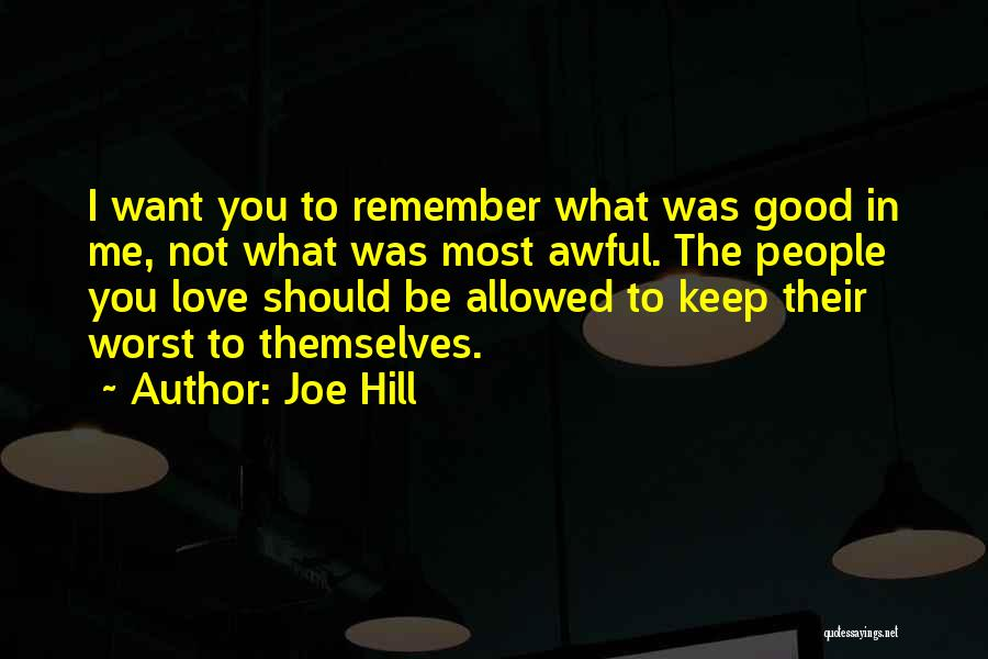 Not Allowed Quotes By Joe Hill