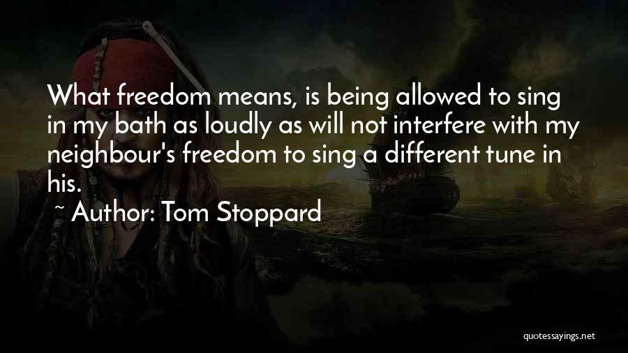 Not Allowed Quotes By Tom Stoppard