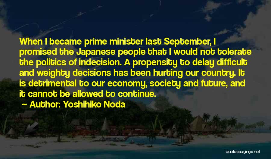 Not Allowed Quotes By Yoshihiko Noda