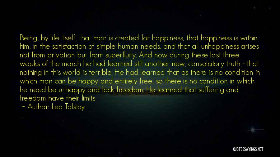 Not Be Happy Quotes By Leo Tolstoy