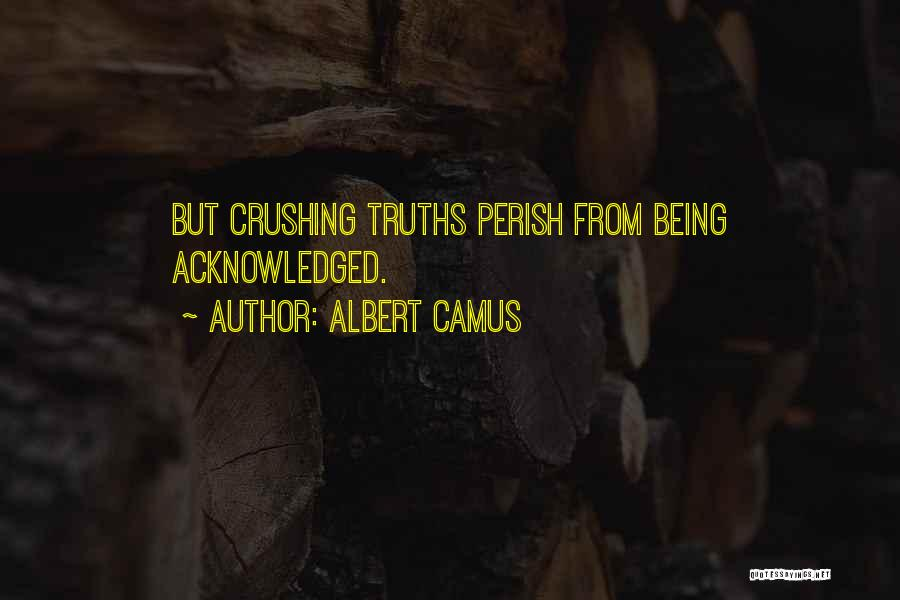 Not Being Acknowledged Quotes By Albert Camus