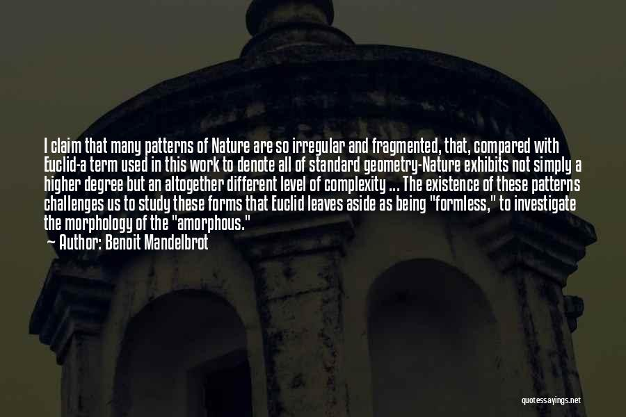 Not Being Compared Quotes By Benoit Mandelbrot