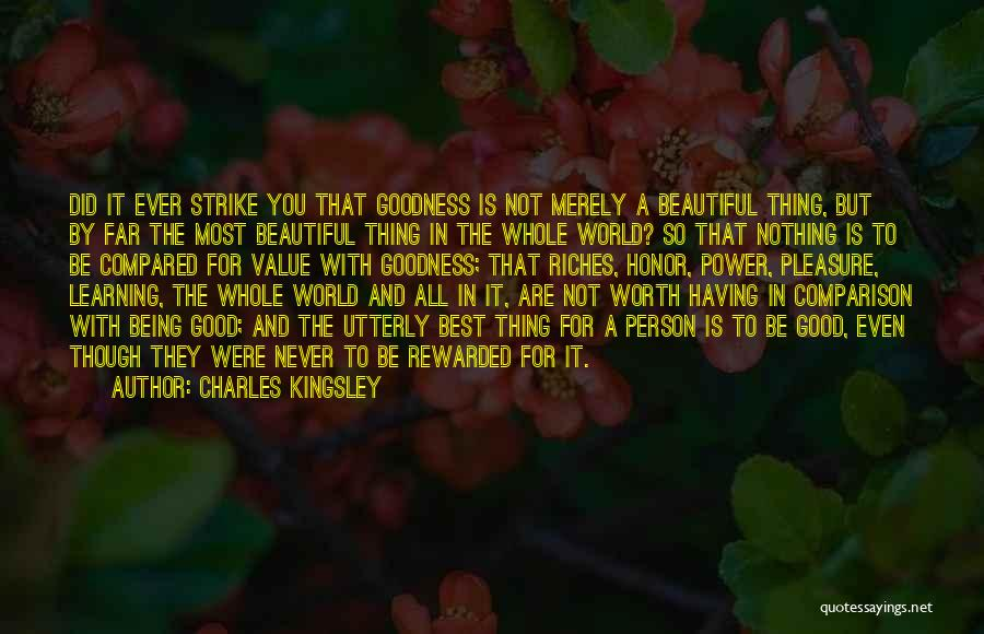 Not Being Compared Quotes By Charles Kingsley