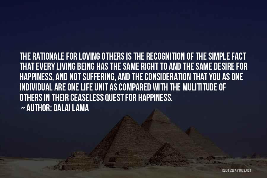 Not Being Compared Quotes By Dalai Lama
