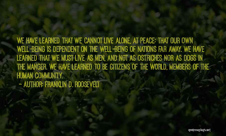 Not Being Dependent Quotes By Franklin D. Roosevelt