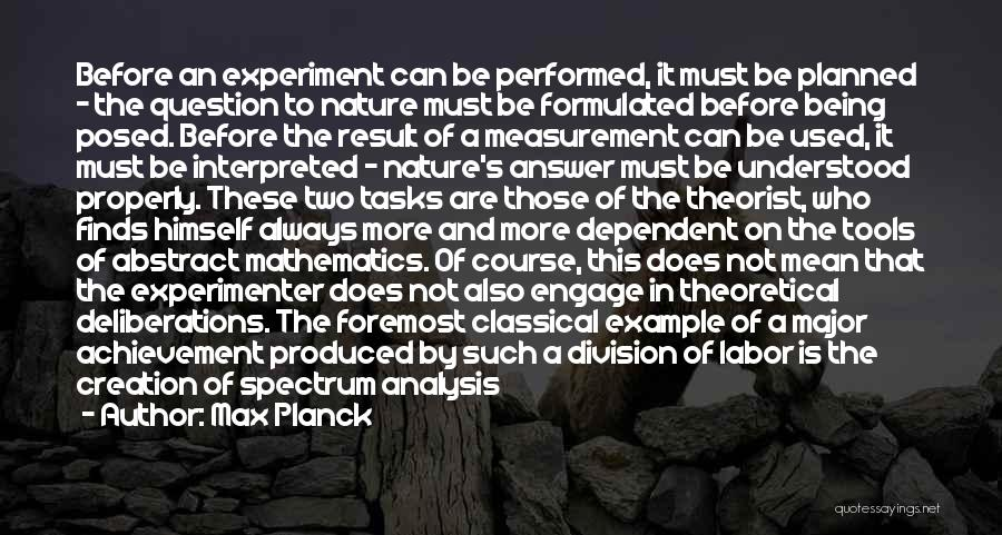 Not Being Dependent Quotes By Max Planck
