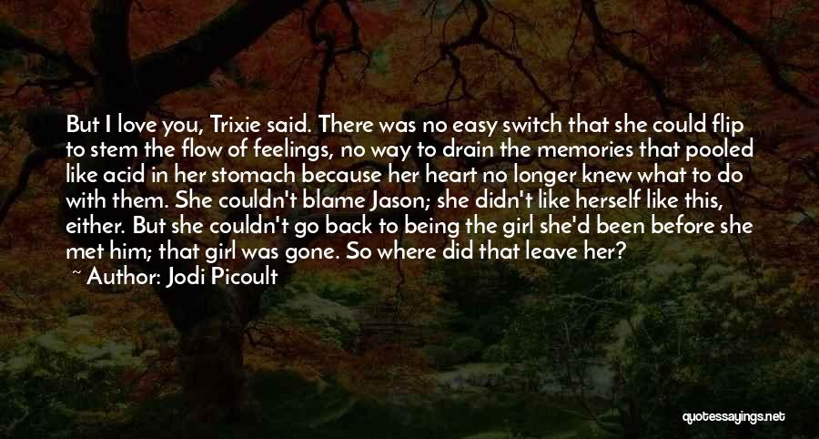 Not Being Easy Girl Quotes By Jodi Picoult