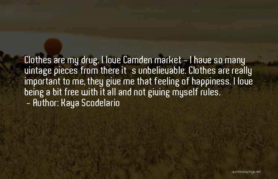 Not Being Myself Quotes By Kaya Scodelario