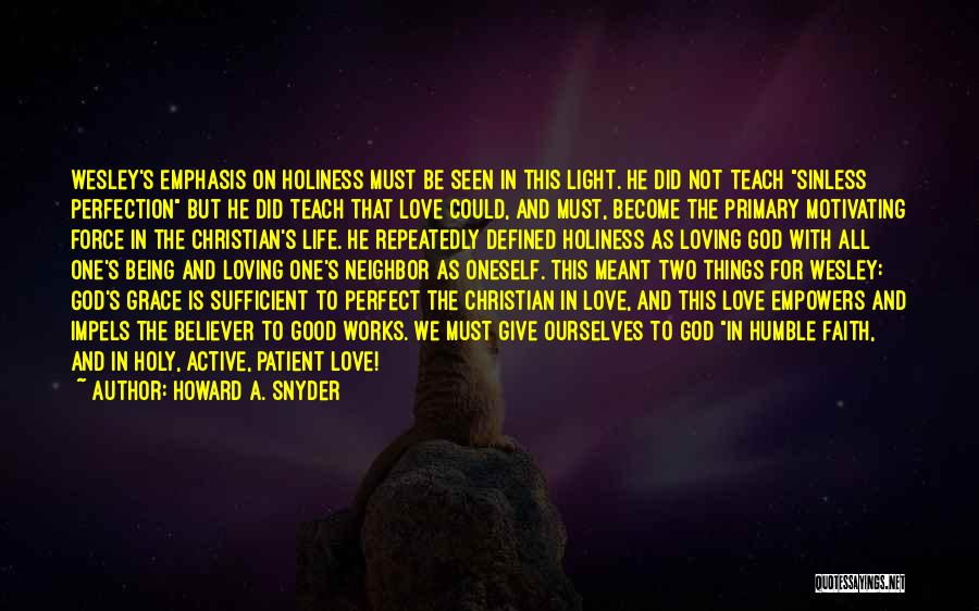 Not Being Perfect But Loving You Quotes By Howard A. Snyder