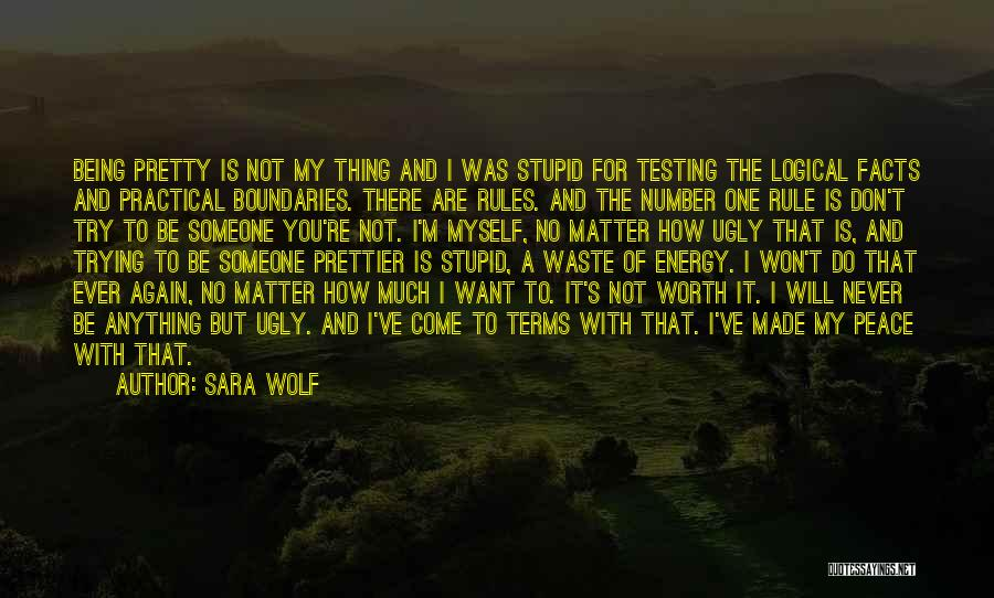 Not Being Worth It To Someone Quotes By Sara Wolf
