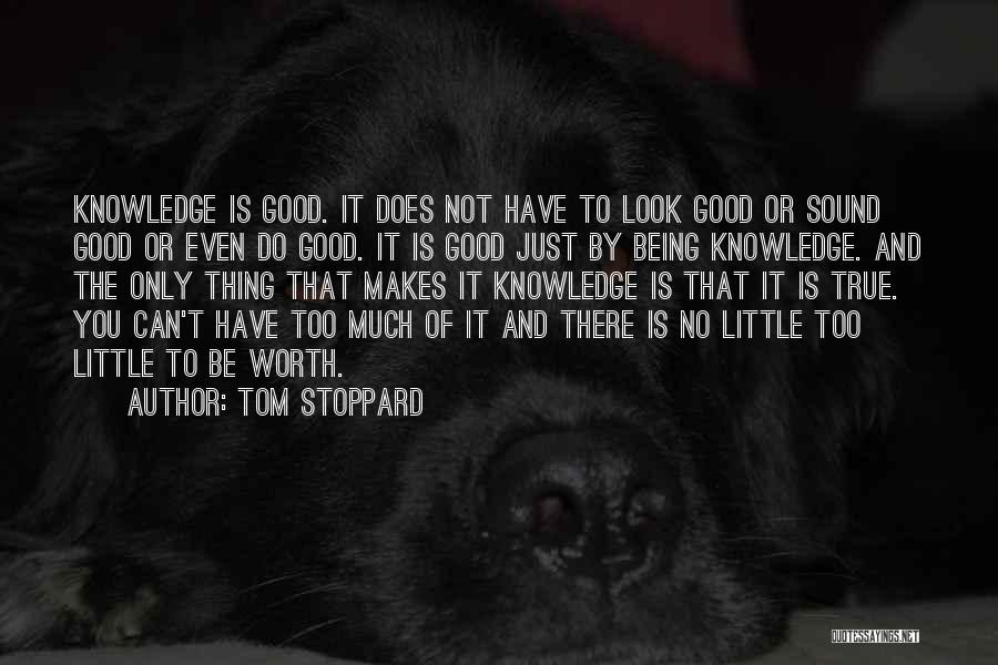 Not Being Worth It To Someone Quotes By Tom Stoppard
