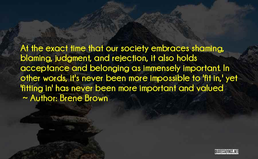 Not Blaming Others Quotes By Brene Brown