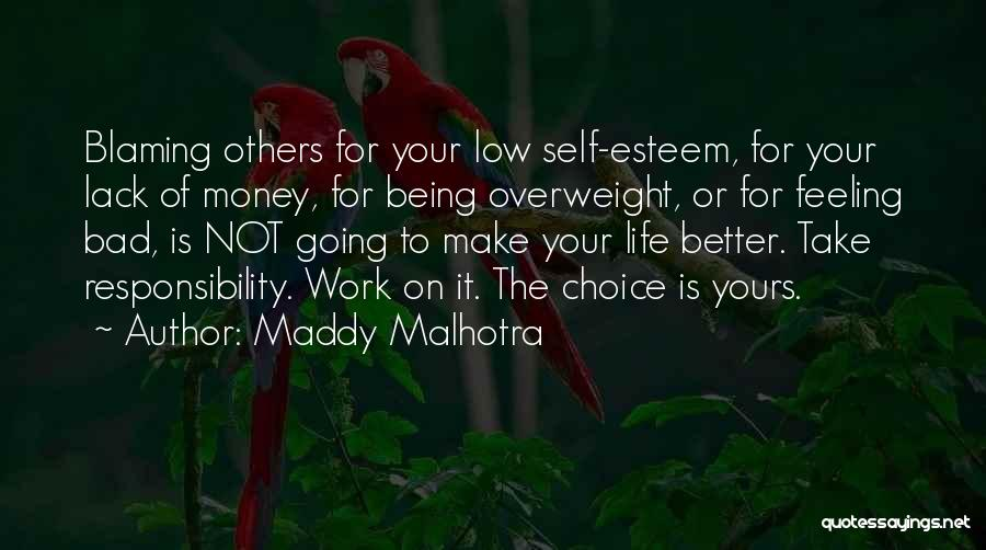 Not Blaming Others Quotes By Maddy Malhotra