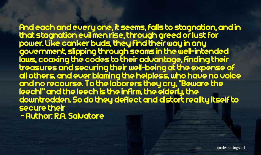 Not Blaming Others Quotes By R.A. Salvatore