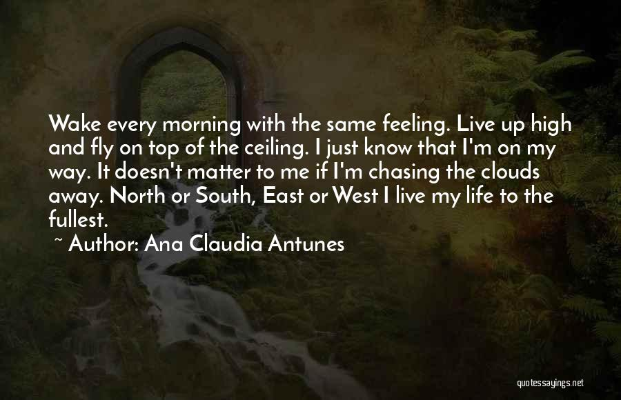 Not Chasing Dreams Quotes By Ana Claudia Antunes